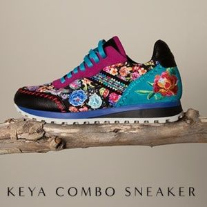 "NWOB Johnny Was ""Keya Combo Floral "" Sneakers"